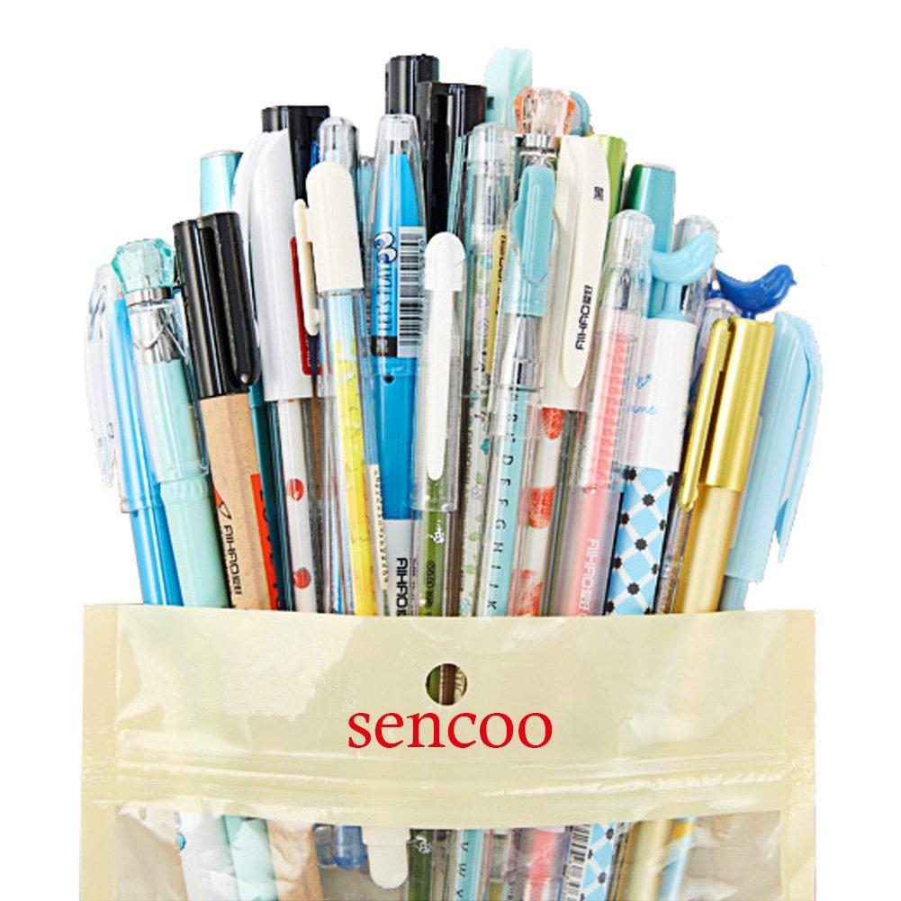 30 Pack Gel Ink Rollerball Pens Black + Blue Gel Pens Cute Pens for Girl Smooth Writing for Student Model Random (30 mix model)
