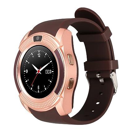 Kivors Reloj Inteligente, Bluetooth Smartwatch Pulsera Deportes Fitness Tracker Tarjeta SIM y TF con Seguimiento
