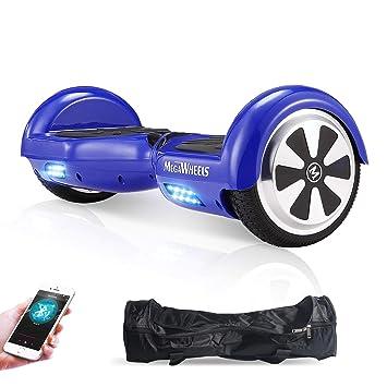 M MEGAWHEELS Scooter-Patinete Eléctrico Hoverboard, 6.5 Pulgadas con Bluetooth - Motor eléctrico 500w, Velocidad 10-12 Km/h.