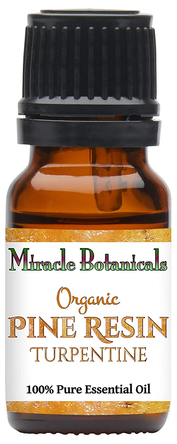 Miracle Botanicals Organic Pine Resin - Turpentine Essential Oil - 100% Pure Pinus Pinaster - 10ml or 30ml Sizes - Therapeutic Grade (10ML)