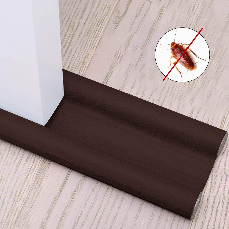 Xnuoyo Burlete para Puertas Tope Aislante para La Puerta Se Utiliza en Dormitorios, Cocinas y Baños para Prevenir Eficazmente el Polvo, Los Insectos, el Viento y el Aislamiento Acústico (Marrón)