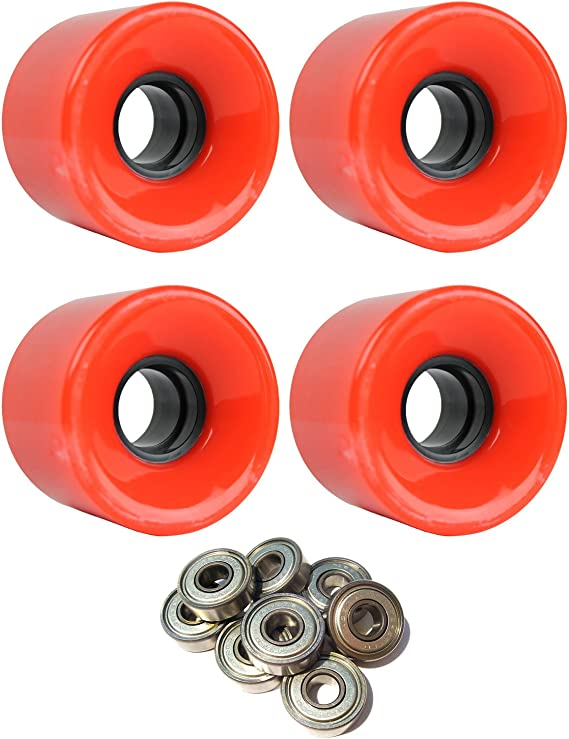 TGM Skateboards Skateboard Cruiser Wheels Set 59mm x 43mm 83A 1788C Red