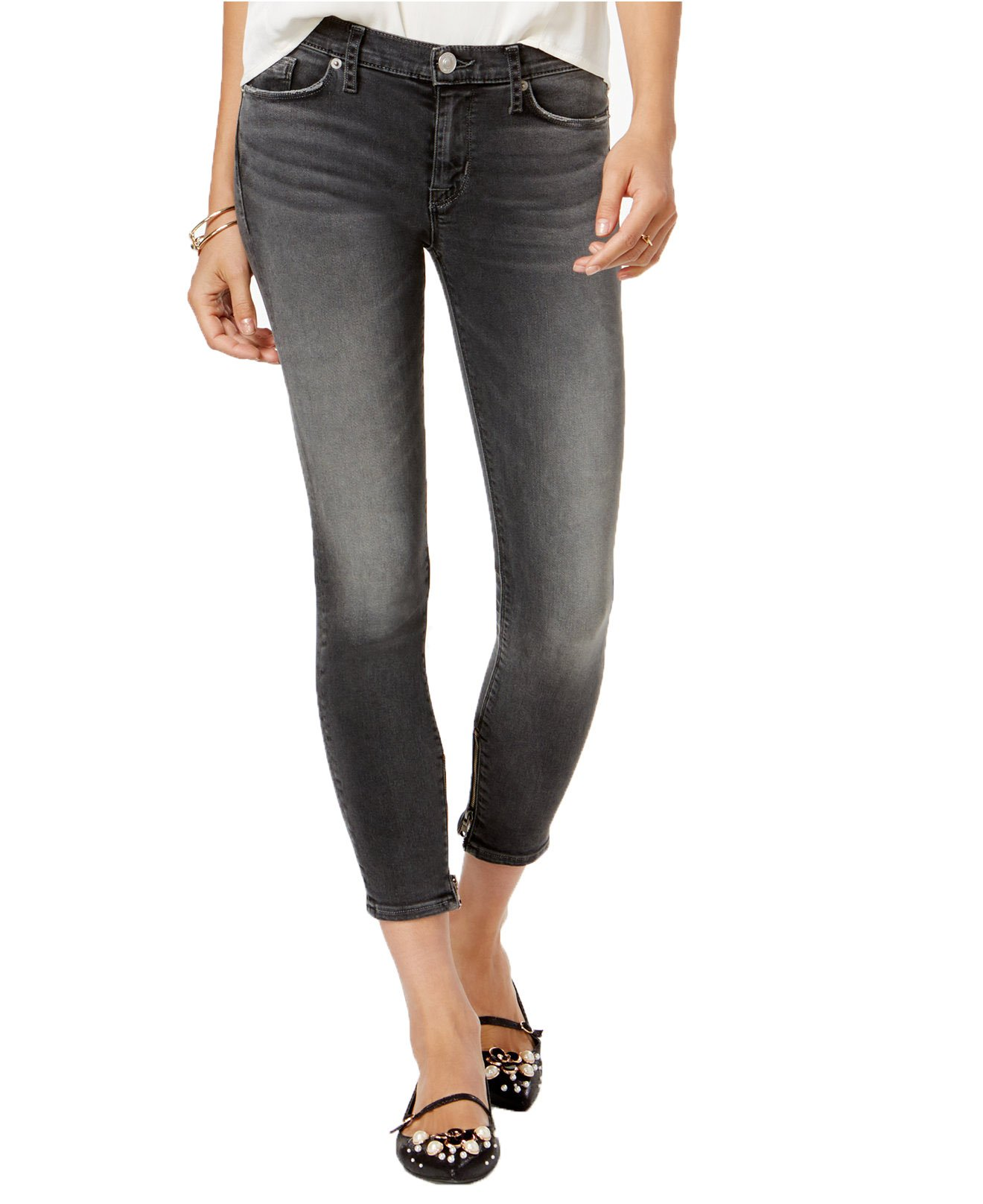 Hudson Jeans Women's Nico Ankle Zip Super Skinny Jeans (32, Trival Wash)