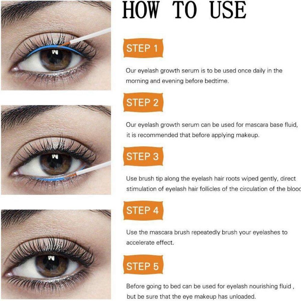 00b43e561c3 Amazon.com: Eyelash Growth Enhancer & Brow Serum for Long, Luscious Lashes  and Eyebrows Yiitay Lash Growth Serum - Best Eyelash Growth Serum For  Fuller ...