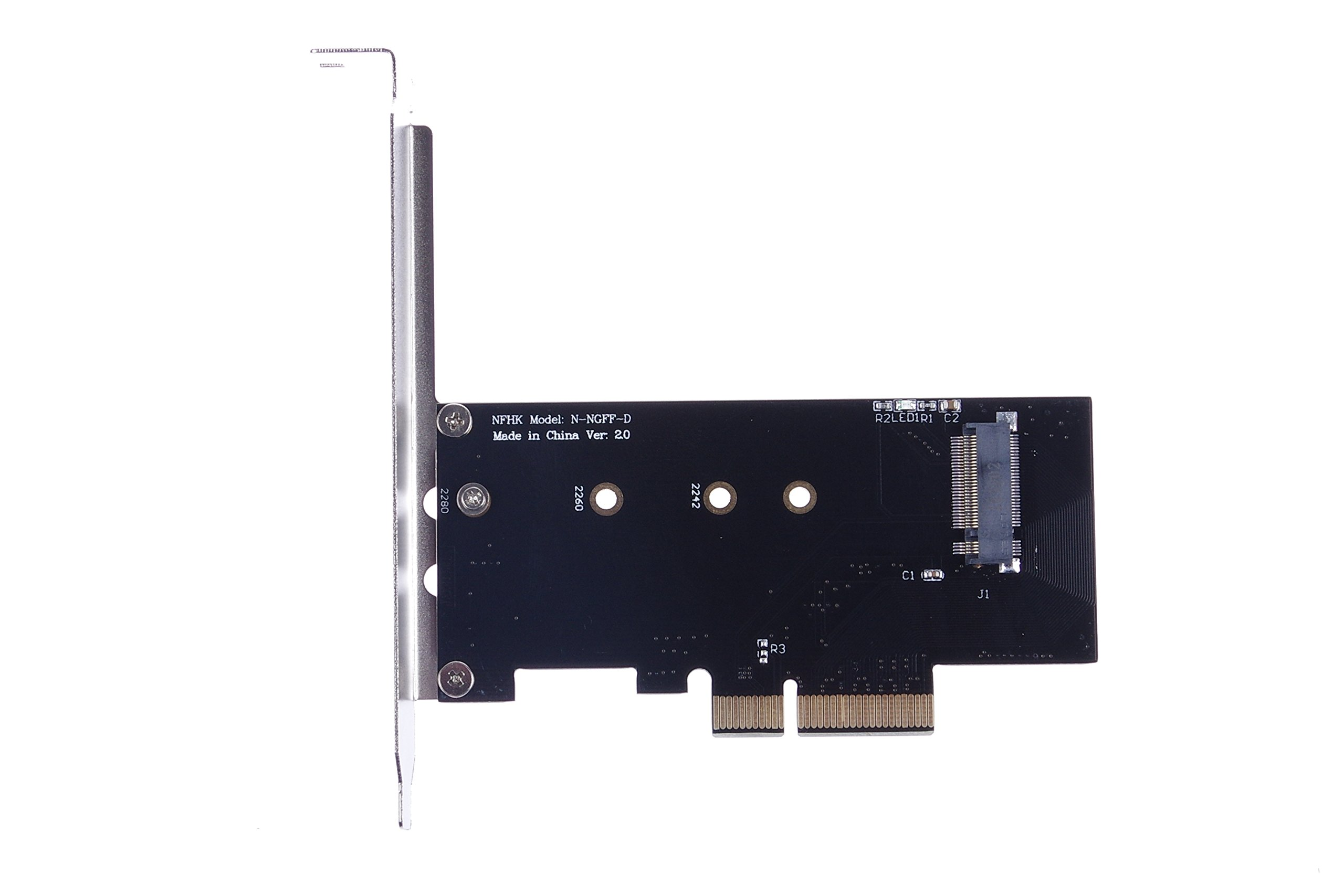 KNACRO SM961 PM961 Intel 600p M.2 PCIe SSD to PCI-E X4 riser card No driver required