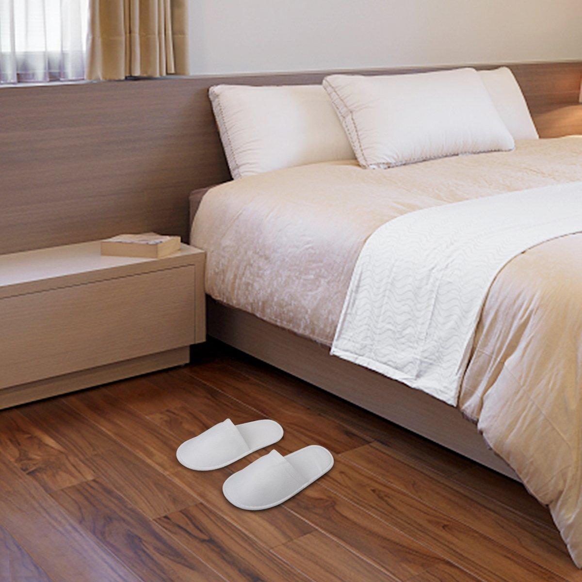 Diossad Pantofole Bianche morbide a Punta Chiusa Guest Pantofole monouso Home Guest Chiusa Hotel Spa 5 Paia Bianche - 3cd36e