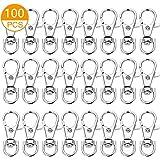 100PCS Premium Key Chain Clip Hooks, Swivel Clasps Lanyard Snap Hook, Keychain Hooks for Lanyard Key Rings Crafting