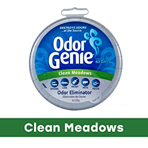 Odor Genie Odor Eliminator, Clean Meadows Fragrance, 8 oz.