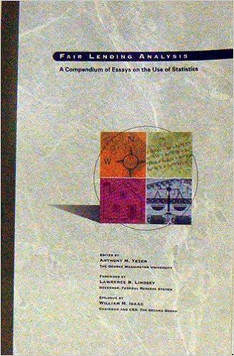 Amazon com: Fair lending analysis: A compendium of essays on
