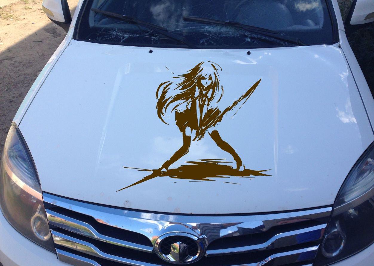 Amazon com anime car decal car decal car sticker anime sticker anime decal samurai girl samurai girl anime car vinyl anime vinyl 10310 2 home