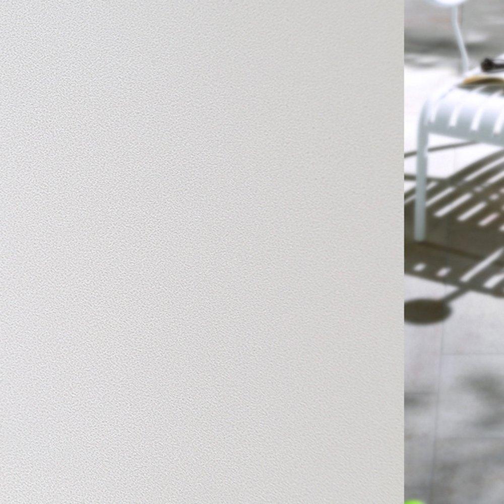 ウィンドウフィルム、bodecinプレミアム非粘着つや消し住宅用ウィンドウフィルムプライバシー、マットブラックアウト装飾フィルム紫外線対策Static Clingガラス映画 23.6in. x 78.7in. ホワイト LGYY00015M-LMD B0733413T8  ホワイト 23.6in. x 78.7in.