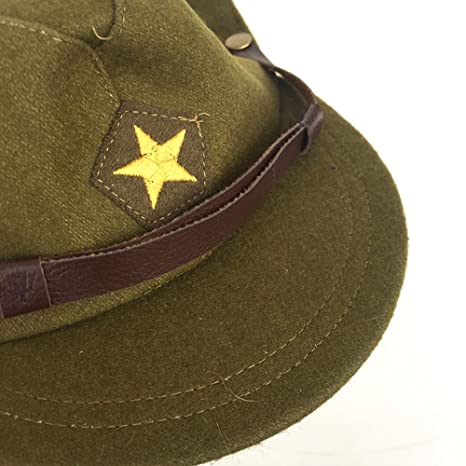 da157198c49 ZWJPW WW2 WWII Japan Officer Hats Japanese Caps Woolen Officer Cap With  Badge at Amazon Men s Clothing store