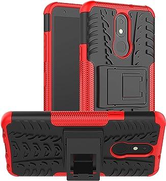 LiuShan Compatible con LG K30 Funda,Heavy Duty Silicona Híbrida ...