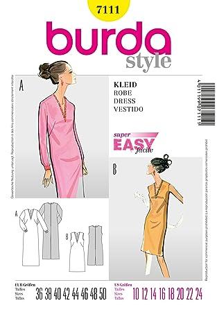Burda Schnittmuster Kleid mit V-Ausschnitt: Amazon.de: Küche & Haushalt
