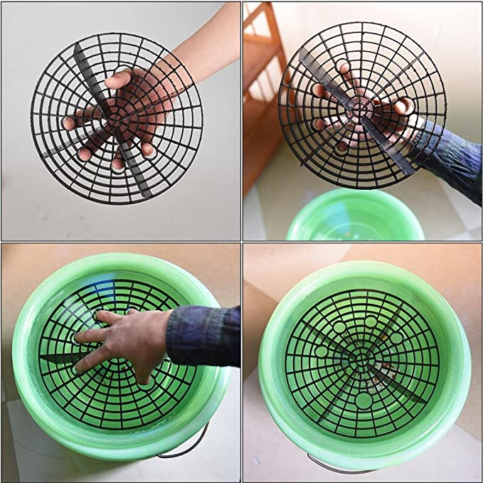 YRD TECH Car Auto Wash Grit Guard Insert Washboard Water Bucket Filter Scratch Dirt Anti Scratch Tool 丨2 Design 23.5cm//26cm丨 23.5cm, B