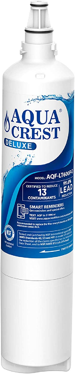 AQUACREST LT600P NSF 401&53&42 Refrigerator Water Filter, Compatible with LG LT600P, 5231JA2006B, 5231JA2006A, KENMORE 46-9990, 9990 Water Filter