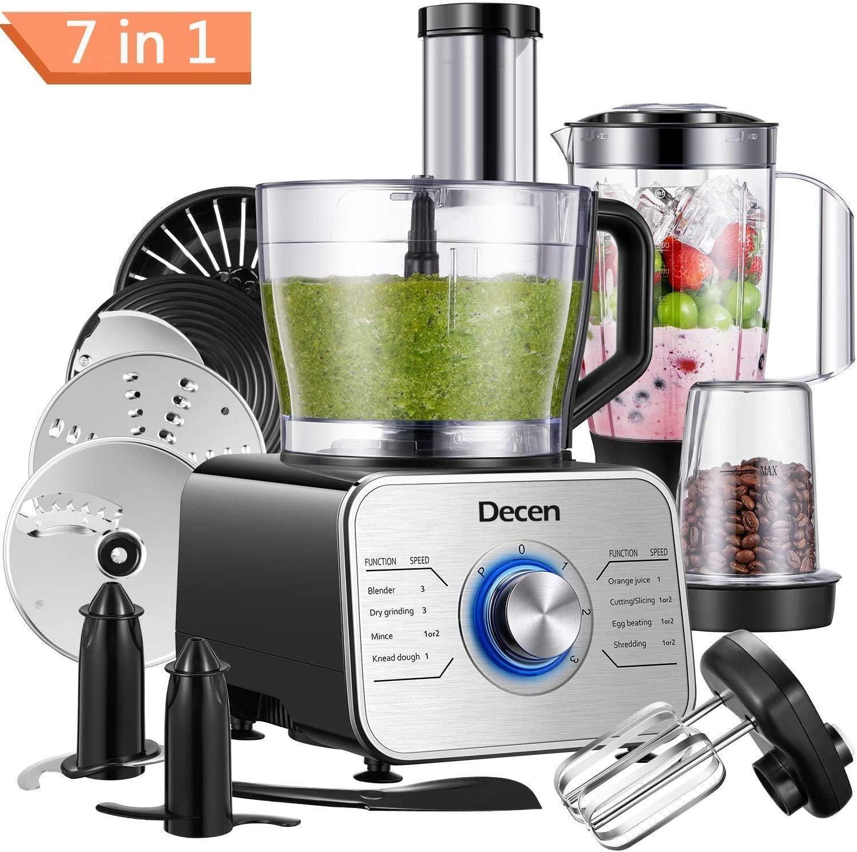 Decen Procesador de Alimentos/ Robot de Cocinay con 8 Accesorios ...
