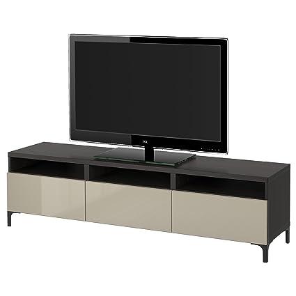 Basso Mobile Porta Tv Ikea.Ikea Besta Mobile Porta Tv Con Cassetti Marrone Nero Selsviken