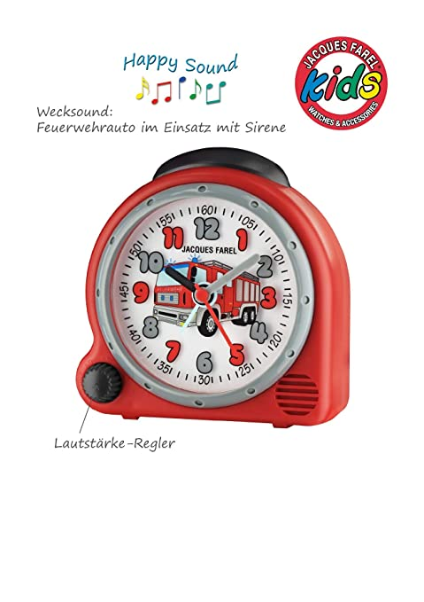 Amazon.de: Jacques Farel HappySound Kinderwecker mit Feuerwehr Sound ...