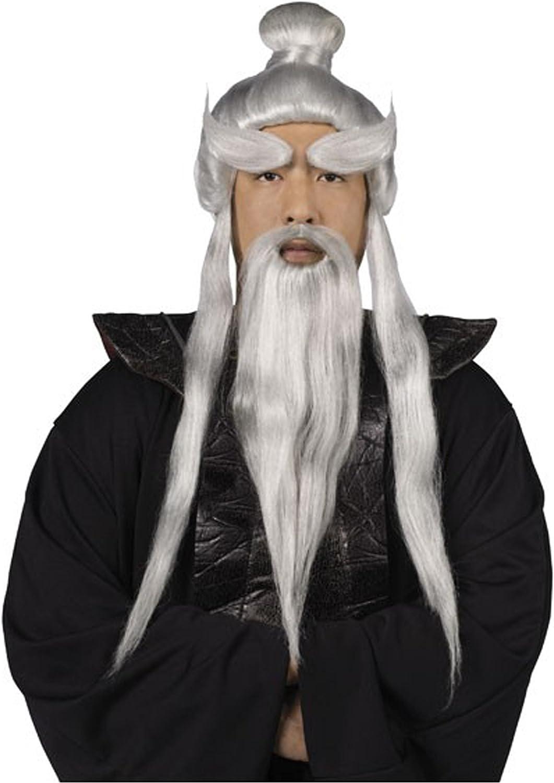 Fun World Sensei Wig and Beard Set Standard: Amazon.es: Juguetes y ...
