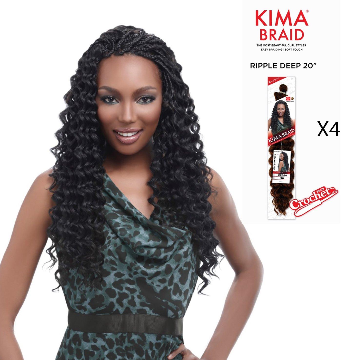 Amazoncom Kima Braid Ripple Deep 20 Crochet Braid 4 Pack