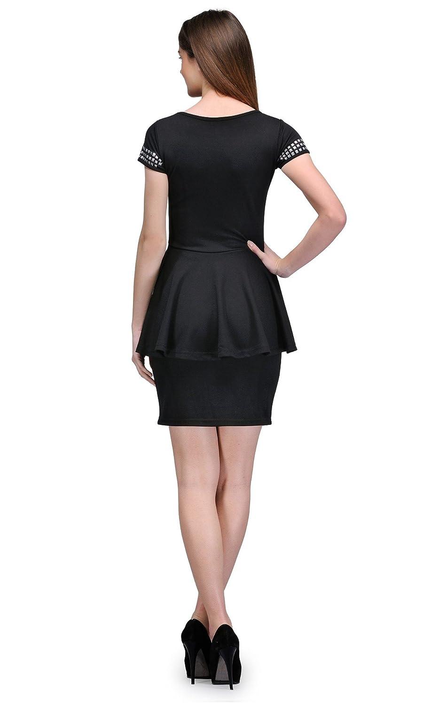 The Gud Look Women's Ponte Roma Thegudlook Bodycon Peplum Dress