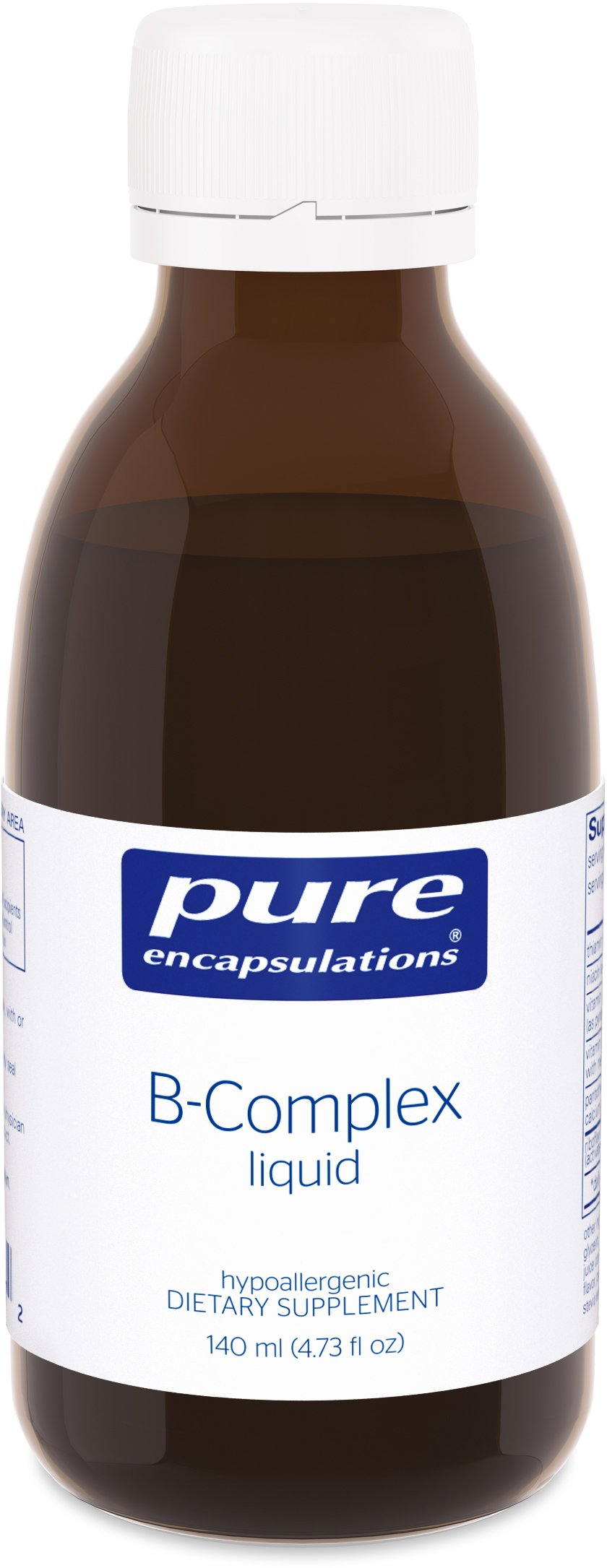 Pure Encapsulations - B-Complex Liquid - Hypoallergenic Supplement to Support Energy Metabolism and Nervous System Function* - 116 ml (3.9 fl oz)