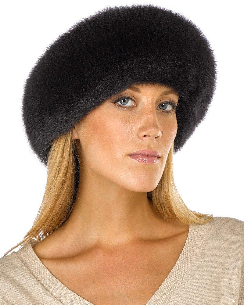 Charcoal Grey Fox Fur Headband by frr (Image #1)