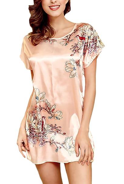 ... Impresión Floral Pijama Vestidos Corto Moda Anchas Casual Confort Homewear Ropa Dama Moda Fashionista Sencillos Woman: Amazon.es: Ropa y accesorios