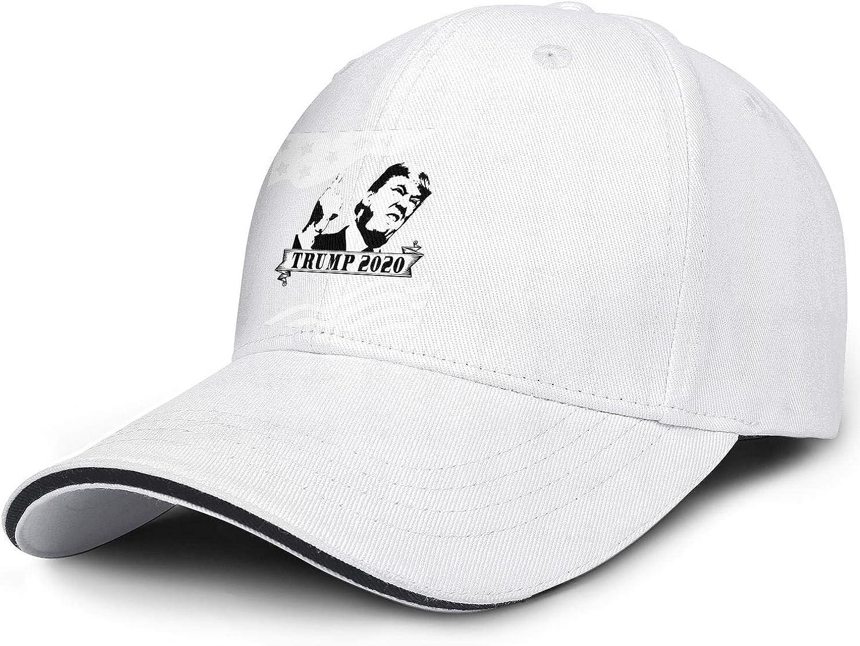 JDHASA Trump 2020 Face White Mens Snapback Hat Baseball Caps Summer Hats Hip Hop Cap