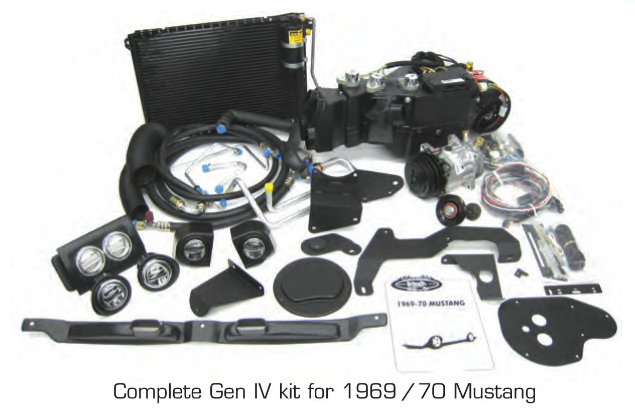 Vintage Air Gen IV SureFit System Kit 1969-1970 Ford Mustang Without Factory AC Complete Kit Gen IV SureFit 1969-1970 Ford Mustang