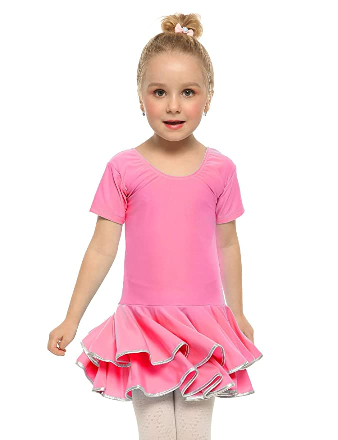 ARSHINER Vestido de Ballet Niña Vestido de Fiesta Leotardo para ...