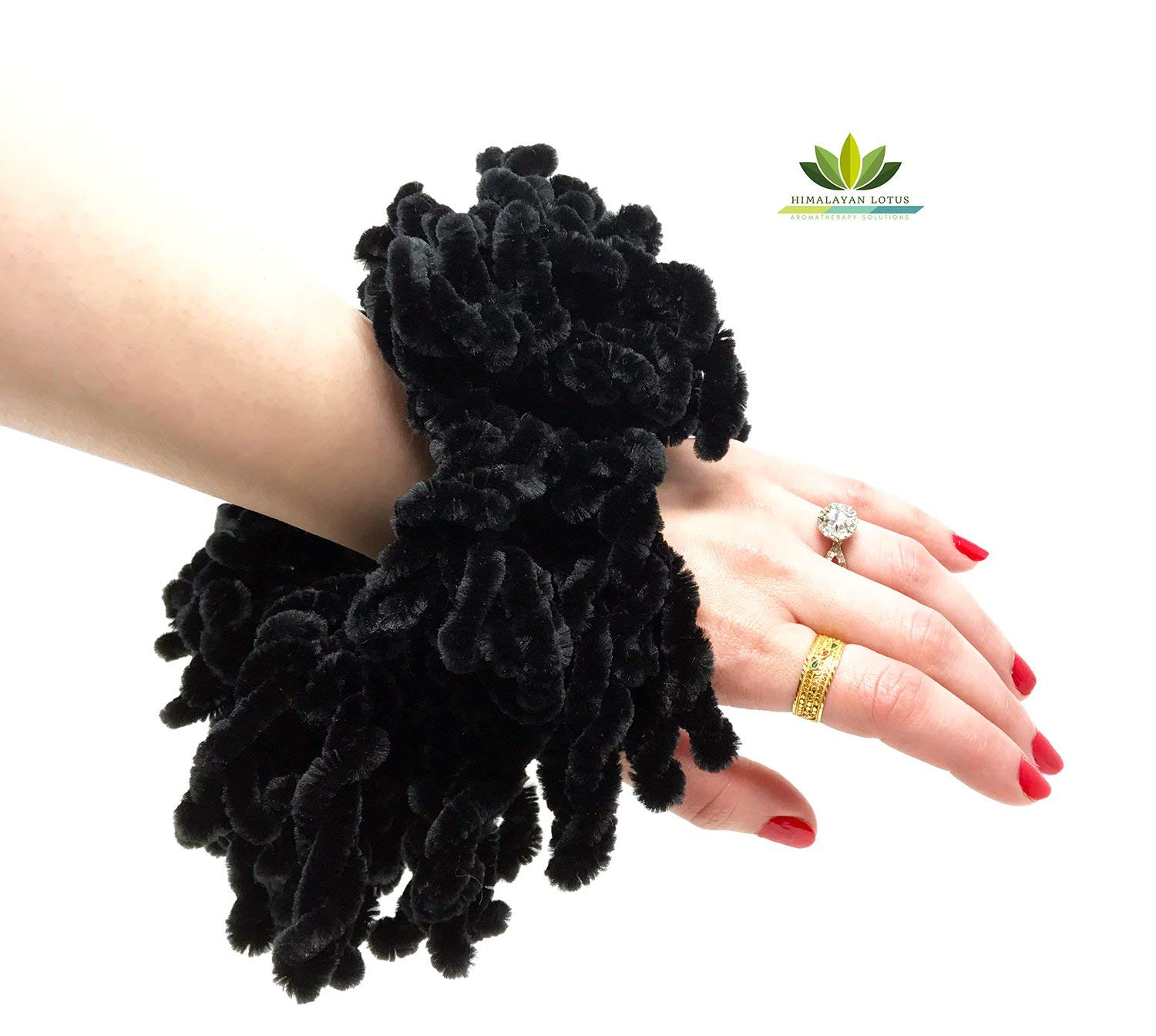 Volumising Hijab Scrunchie Plain Big Hair Ring Tie Bun Clip Hijab Scarf Volumizer Khaleeji - by Himalayan Lotus MSHSBFB1