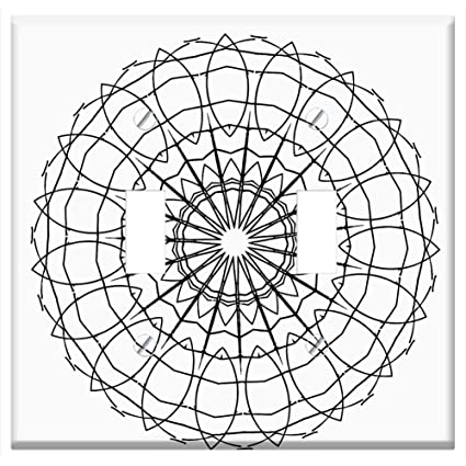 Switch Plate Double Toggle Drawing Hand Drawn Mandala Artwork