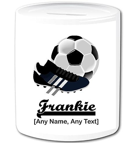Personalizado regalo – fútbol caja de dinero/Hucha (cualquier ...