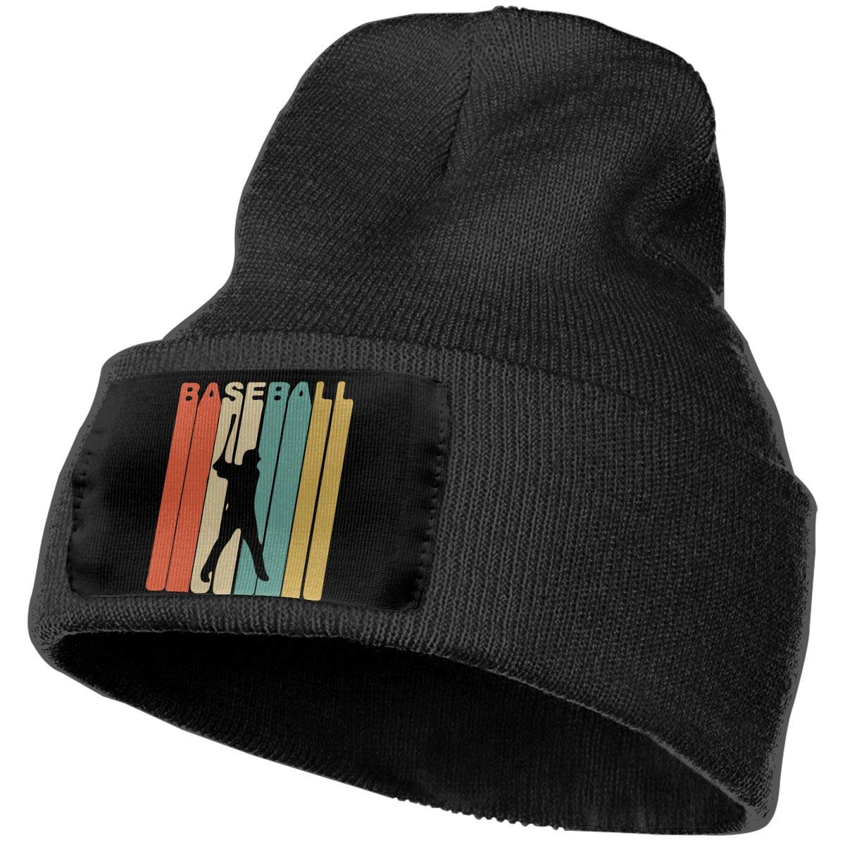 Retro Style Baseball Player Men /& Women Knit Hats Stretchy /& Soft Skull Cap Beanie