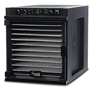 Tribest Sedona Express SDE-S6780-B Digital Food Dehydrator, Black with Stainless Steel Trays