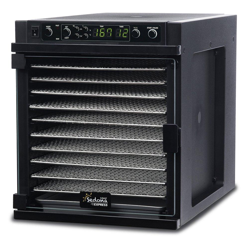 Tribest Sedona Express SDE-S6780-B Digital Food Dehydrator, Black with Stainless Steel Trays