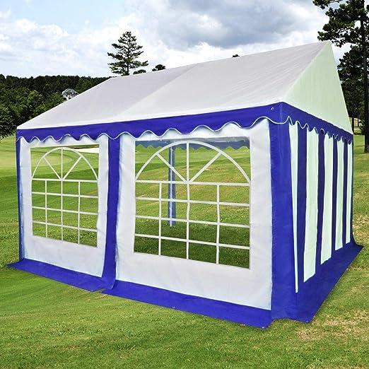FZYHFA Carpa de Jardín de PVC 4x4 m Azul y Blanco, Carpa para ...