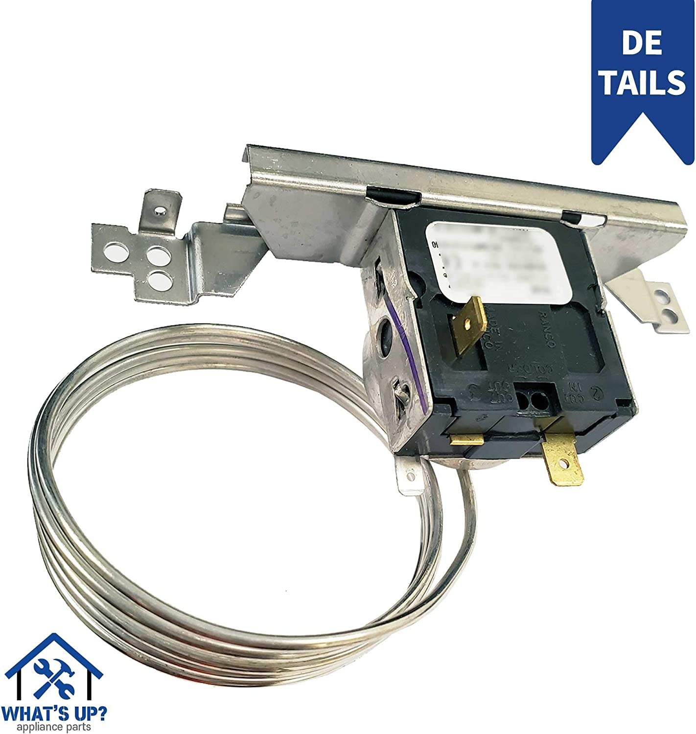Whats Up W11035627 for W11088945 OEM Replacement Part for Refrigerator Cold Control Thermostat Compatible with Whirlpool replaces 2315562 2161282 2169507 2175515 WP2315562