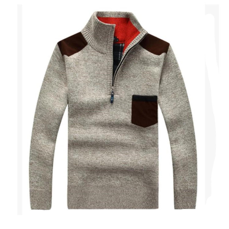 SHUNLIU men's Casual Long Sleeve Slim Fashion Long Sweater Outwear Knitted Coat Knitted