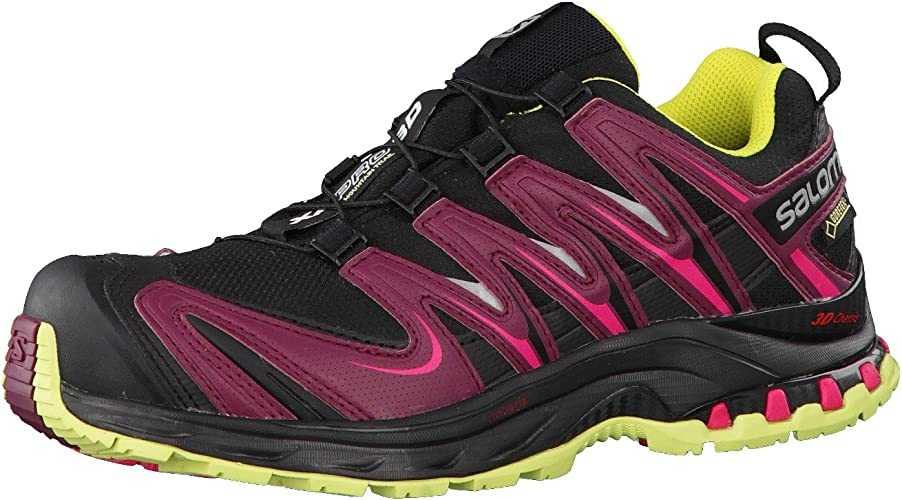 Salomon XA Pro 3D GTX W Black Bordeaux Flashy