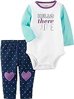Carter's Baby Girls' 2-Piece Hello Bodysuit And Heart Leggings Set