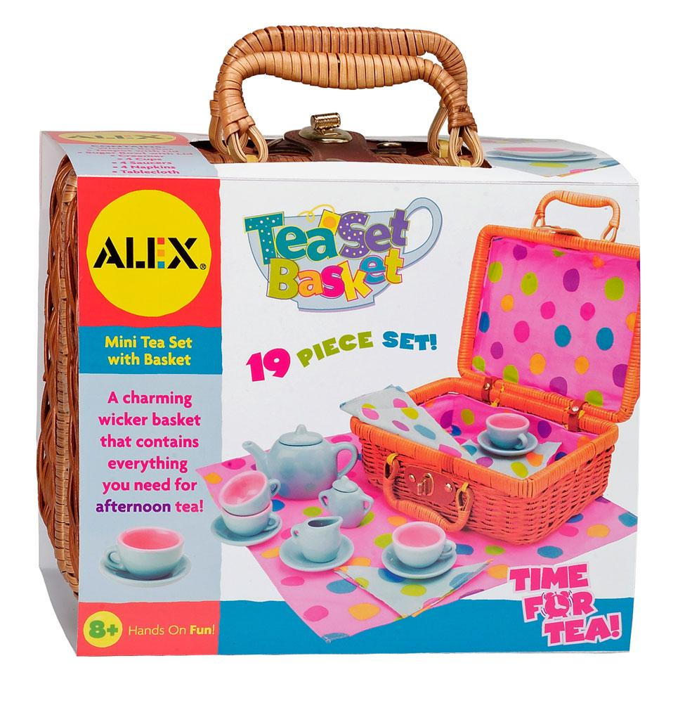 Toy Tea Set : Amazon alex toys tea set basket games