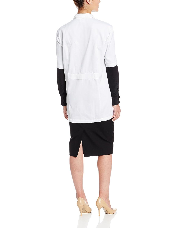 worklon 105L poliéster/algodón camiseta de manga corta para botón de farmacia bata de laboratorio con cierre frontal, grande, color blanco: Amazon.es: Amazon.es