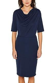 ESPRIT Collection Damen Etui Kleid mit Gürtel, Knielang