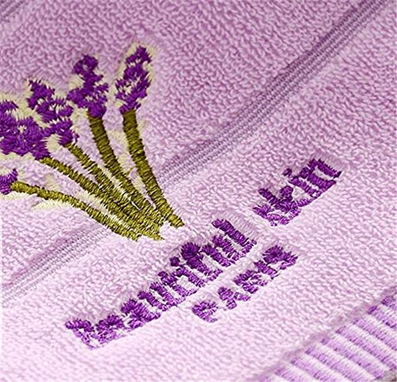 Amazon.com: Lictory 1pcs 33x74cm lavender Flower jacquard Soft Face Towel Cotton Hair Hand Bathroom Towels badlaken toalla Toallas Mano Gift A: Home & ...