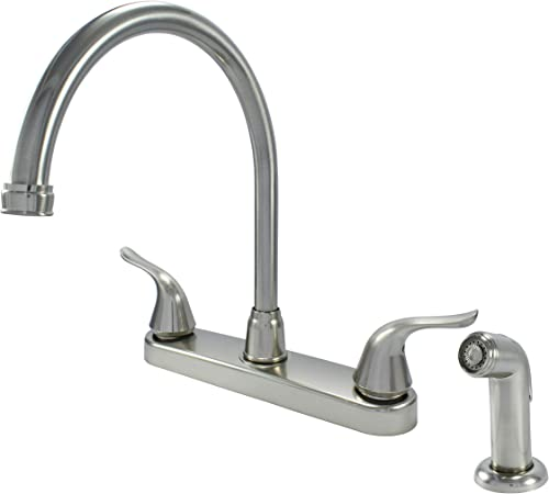 Wasserman 23073124 – Non-metallic Kitchen Sink Faucet High Spout Double Handle Washerless with Side Spray