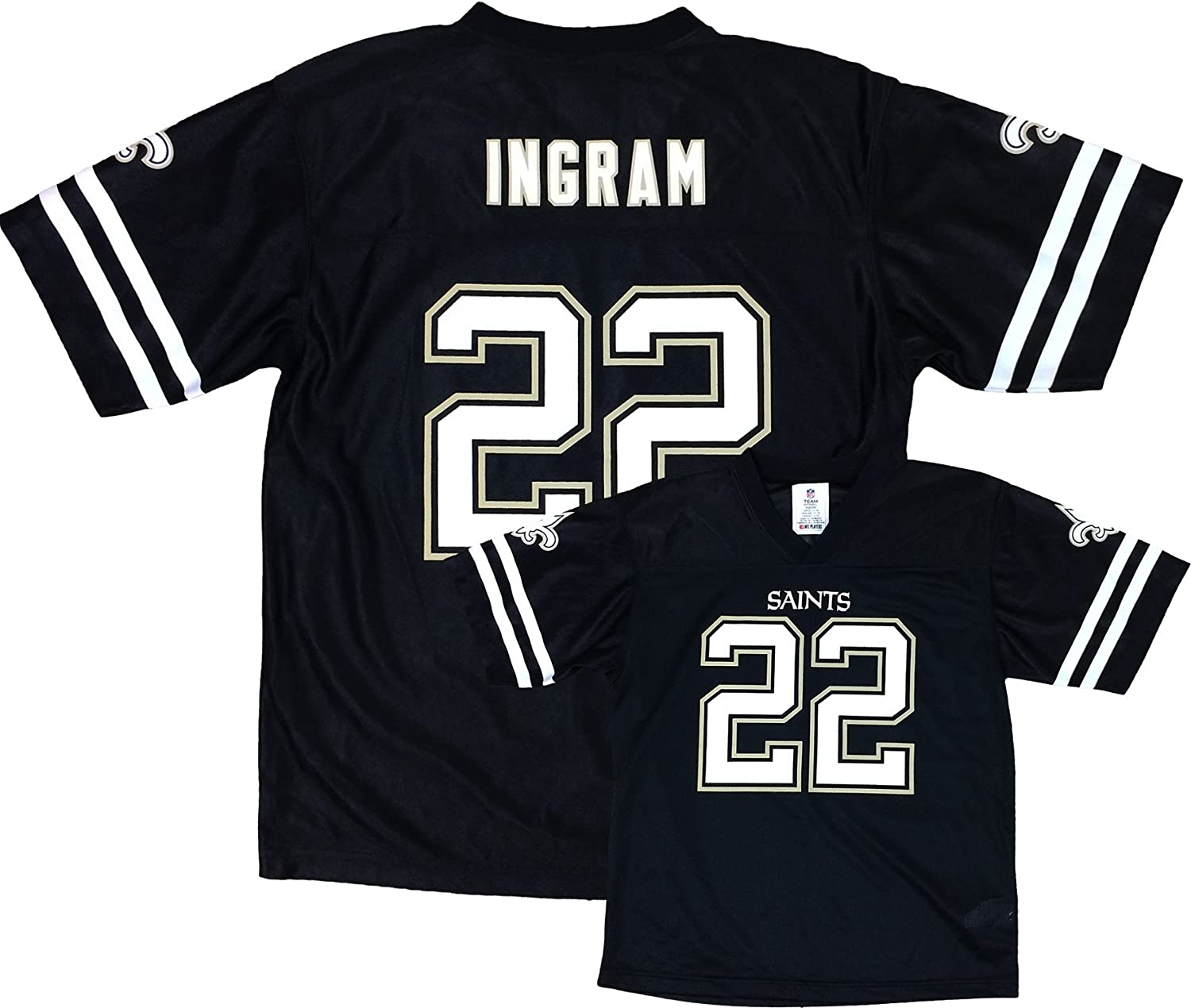 quality design 87704 c7197 OuterStuff Mark Ingram New Orleans Saints Blackout Player ...
