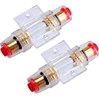 Kyrio 2PCS AGU Portafusibles en línea con fusibles
